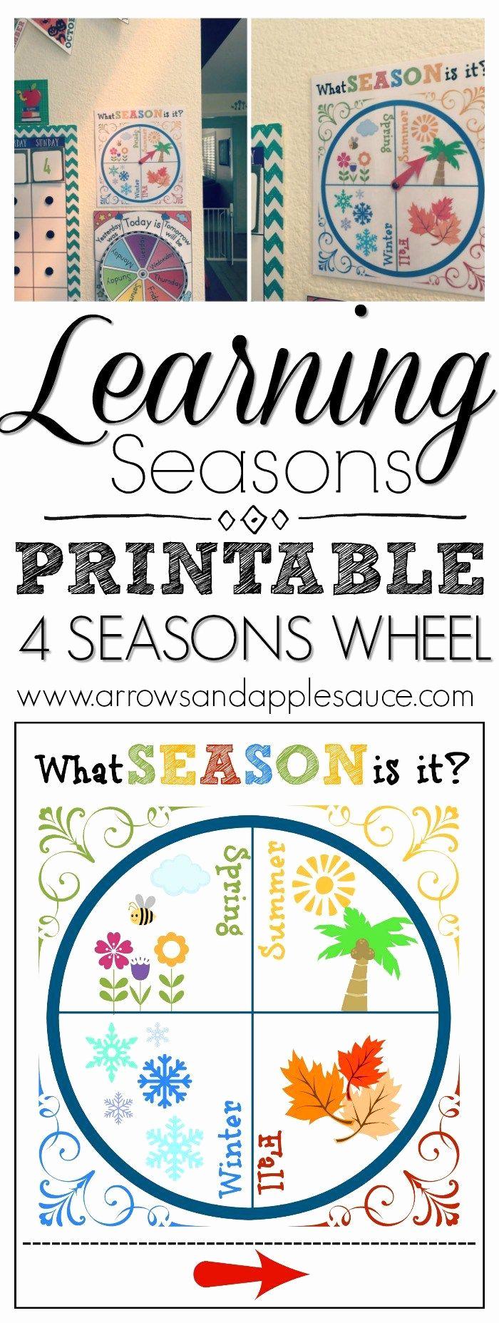 Seasons Worksheets for Preschoolers Unique Our Calendar Wall the Seasons