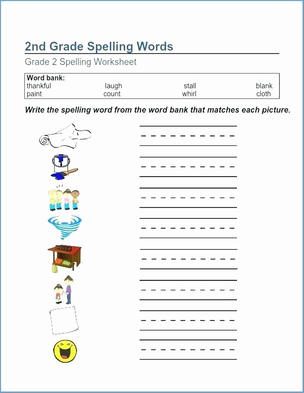 Second Grade Spelling Worksheets Lovely 2nd Grade Spelling Worksheets Best Coloring Pages for Kids