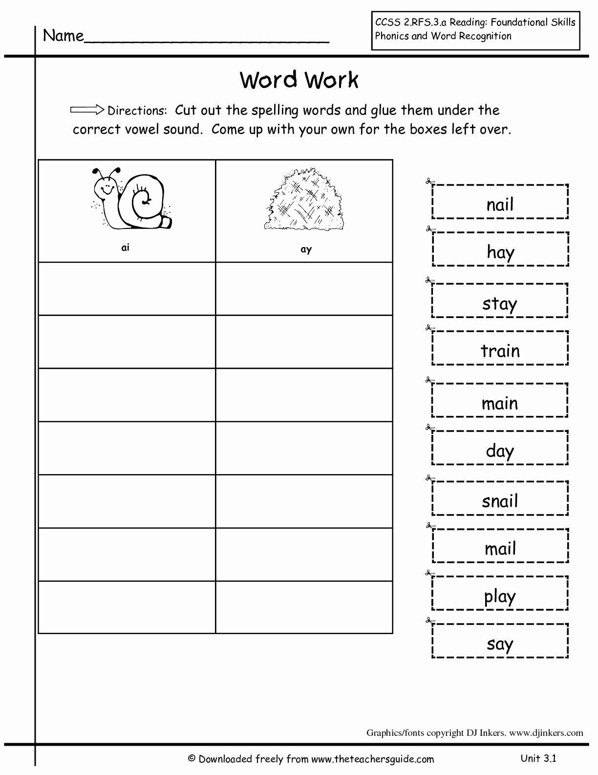 Second Grade Spelling Worksheets New 2nd Grade Spelling Worksheets to Printable 2nd Grade