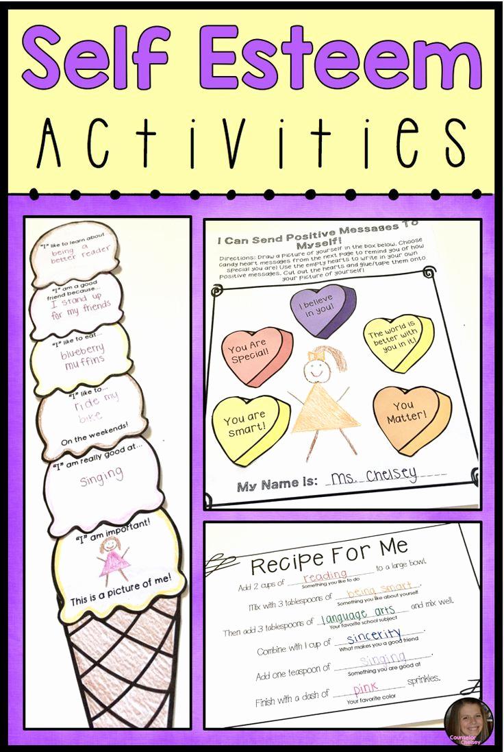 Self Esteem Activities Worksheets Awesome Self Esteem Activities for Lower Elementary School