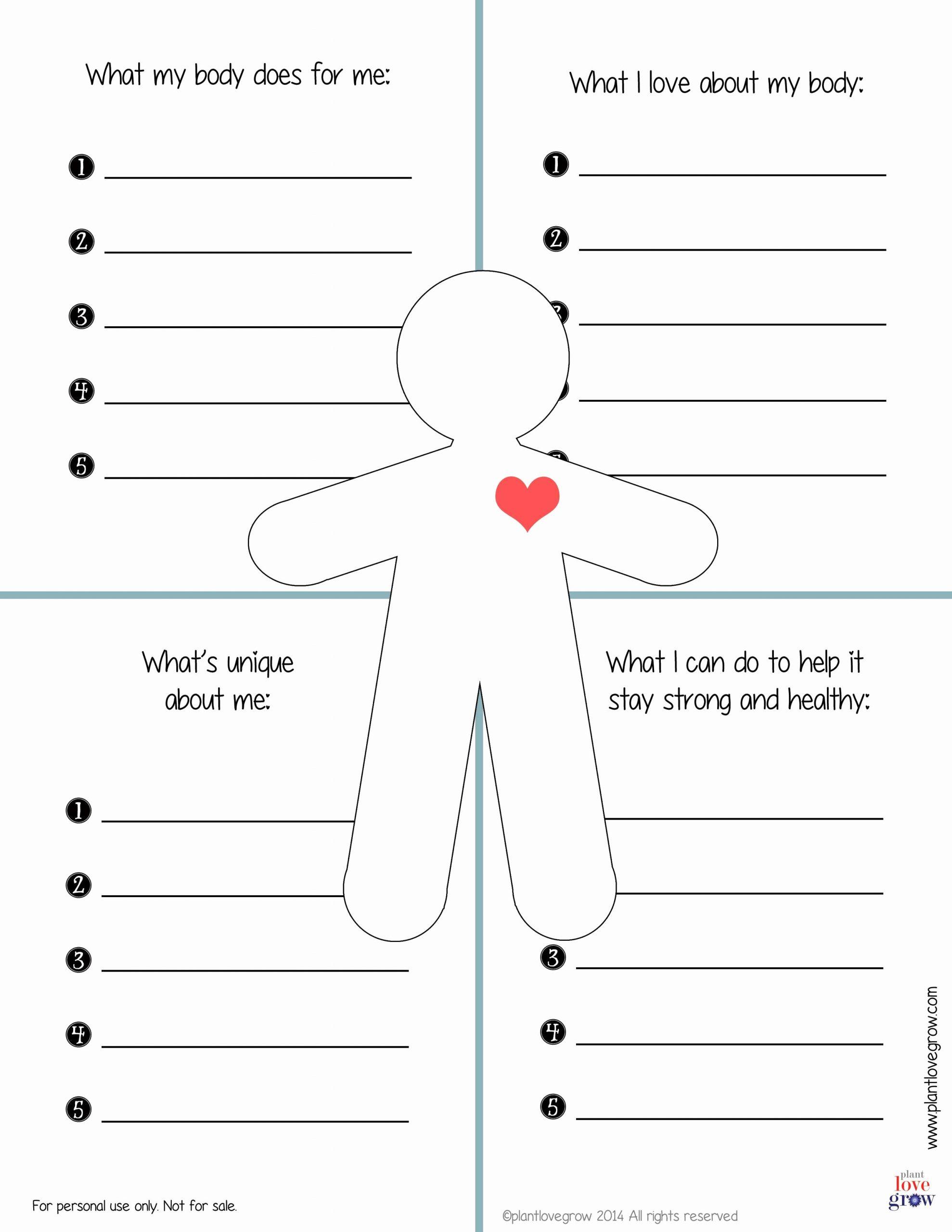 Self Esteem Activities Worksheets Beautiful Printable Self Esteem Worksheets for Teenagers
