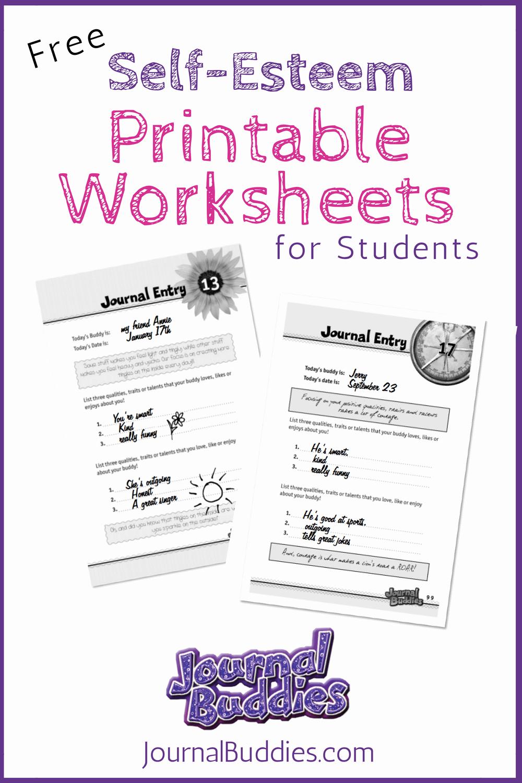 Self Esteem Activities Worksheets Fresh Free Printable Self Esteem Worksheet for Kids