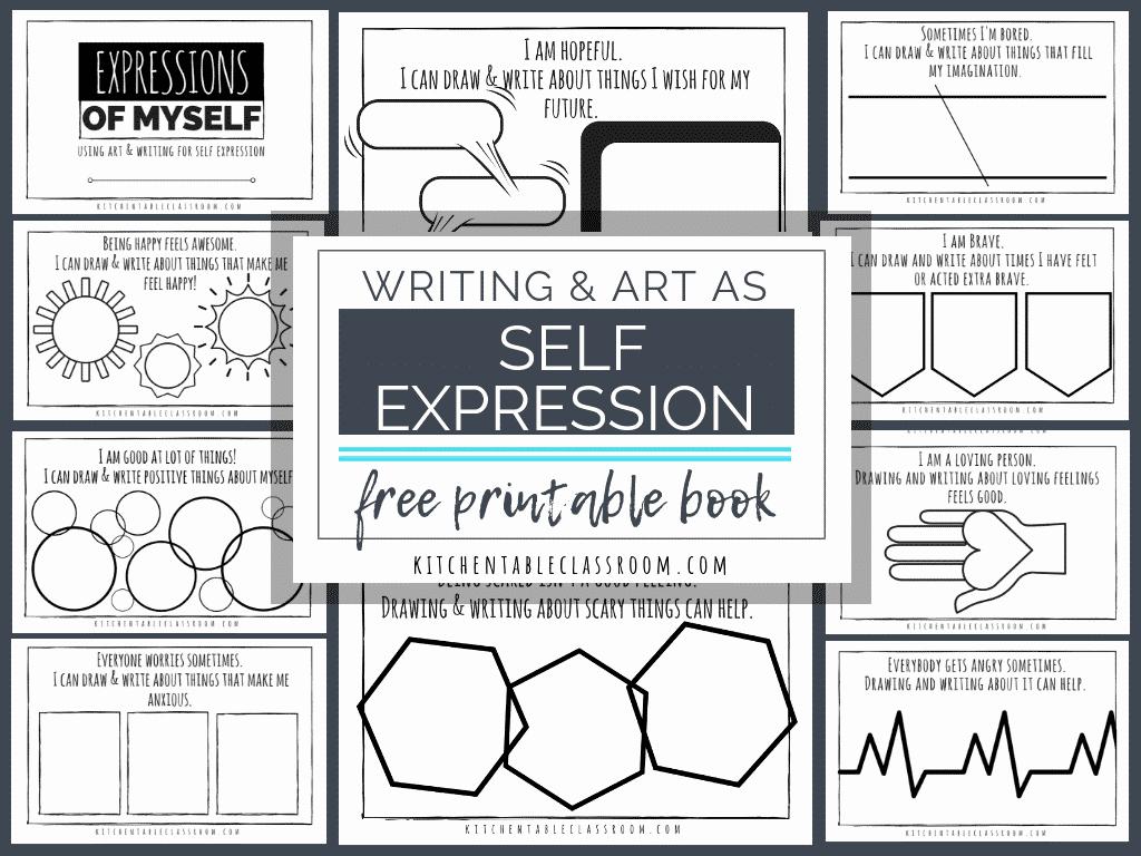 Self Esteem Activities Worksheets Lovely Self Expression Through Writing & Art Free Self Esteem