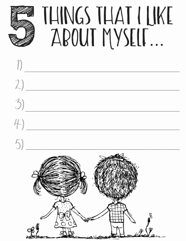 Self Esteem Activities Worksheets New Free Printable Self Esteem Worksheets