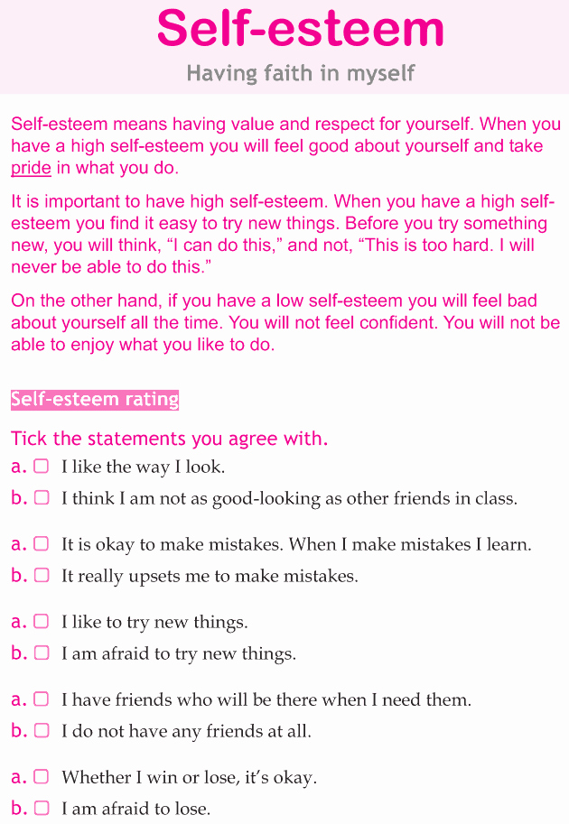 Self Esteem Worksheets for Girls Awesome Ms Sepp S Counselor Corner Body Image & Self Esteem In Girls