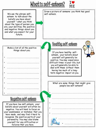 Self Esteem Worksheets for Girls Beautiful Self Esteem Worksheet by Lharris24 Teaching Resources Tes