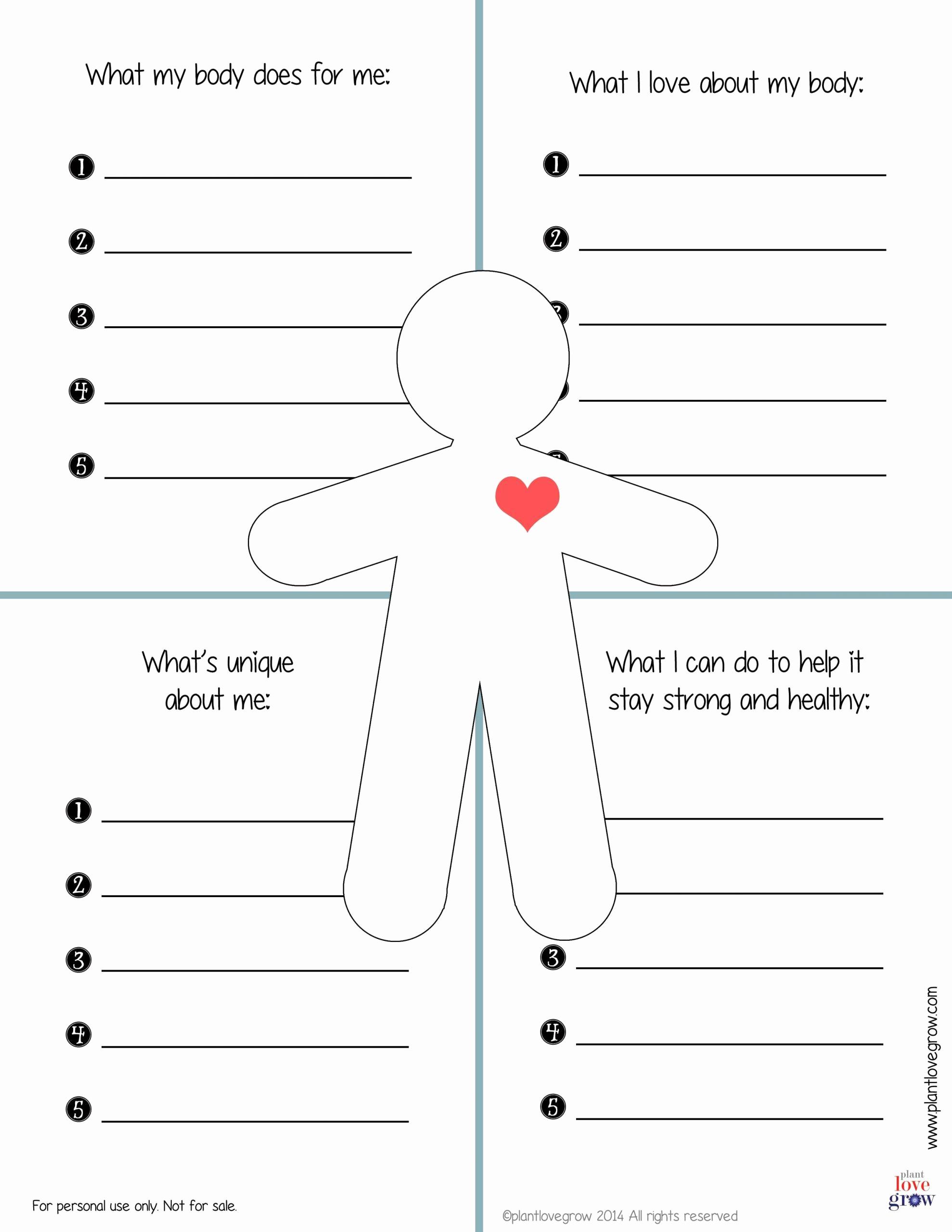 Self Esteem Worksheets for Girls Elegant 30 Self Esteem Worksheets for Girls