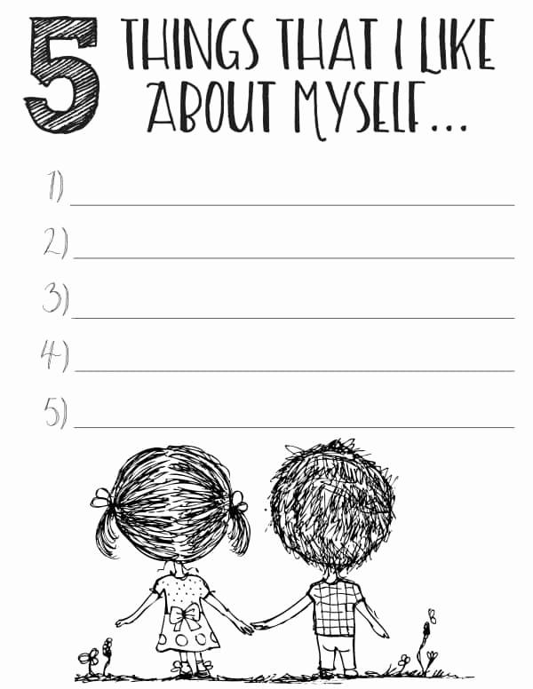 Self Esteem Worksheets for Girls Elegant Free Printable Self Esteem Worksheets