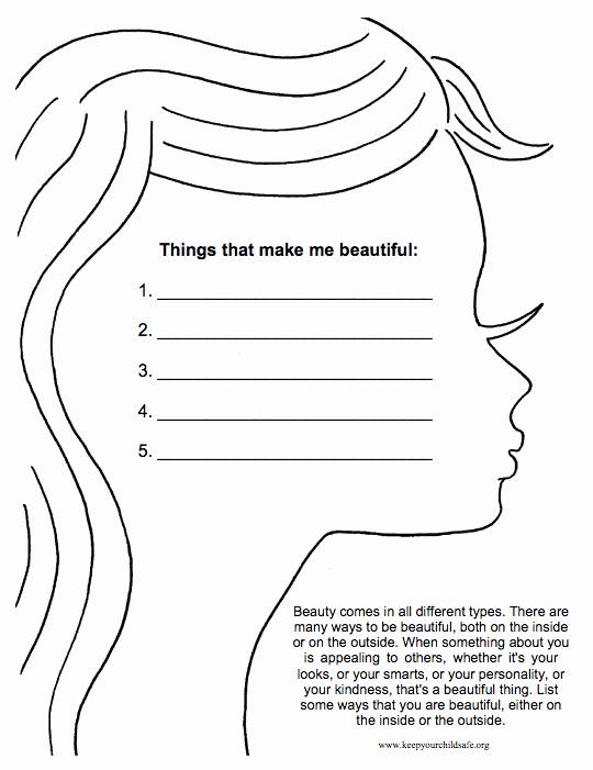 Self Esteem Worksheets for Girls Lovely 18 Self Esteem Worksheets and Activities for Teens and