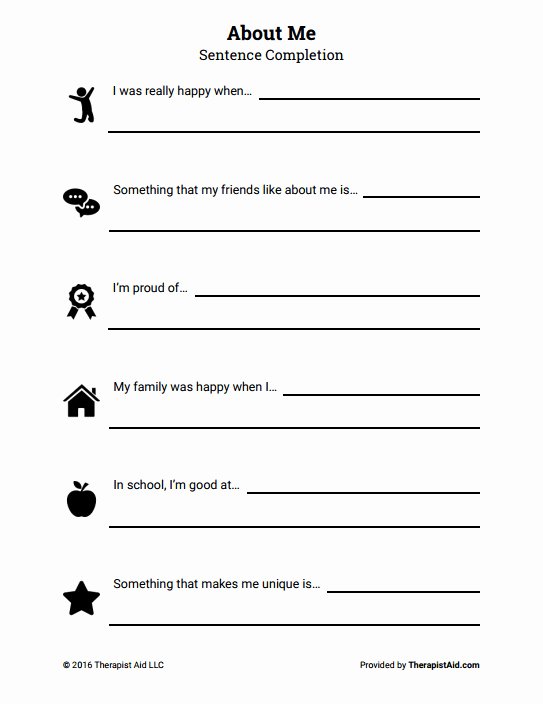 Self Esteem Worksheets for Girls New 18 Self Esteem Worksheets and Activities for Teens and