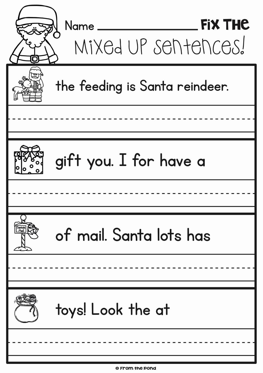 Sentence Worksheets for First Grade Best Of Practice Writing Sentences Worksheets for 1st Grade