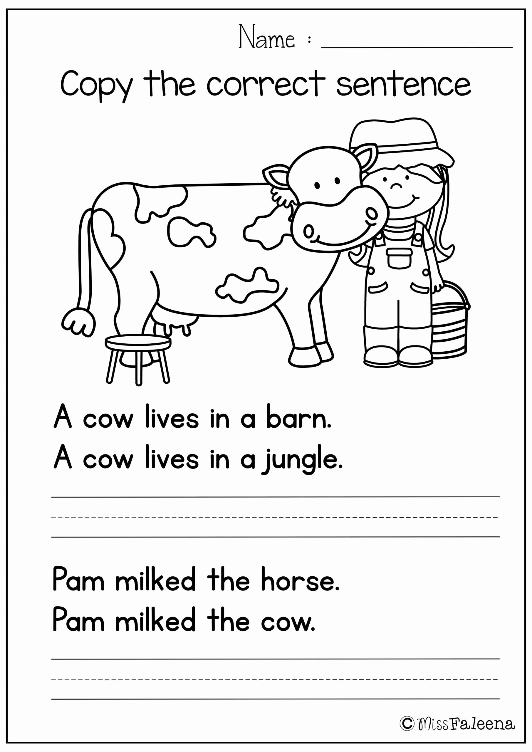 Sentence Worksheets for First Grade Elegant Unscramble Sentences Worksheets 1st Grade Free Sentence