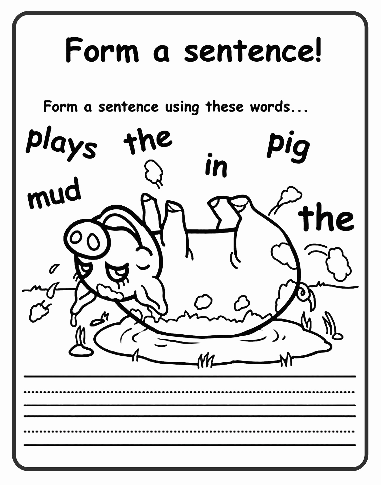 Sentence Worksheets for First Grade Fresh 12 Good Examples 1st Grade Worksheets Free Download