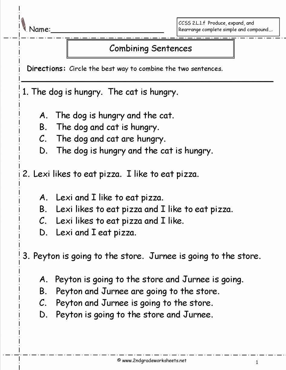 Sentence Worksheets for First Grade Lovely Unscramble Sentences Worksheets 1st Grade