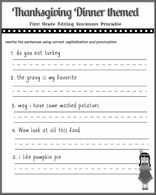 Sentence Worksheets for First Grade Luxury 12 Good Examples 1st Grade Worksheets Free Download