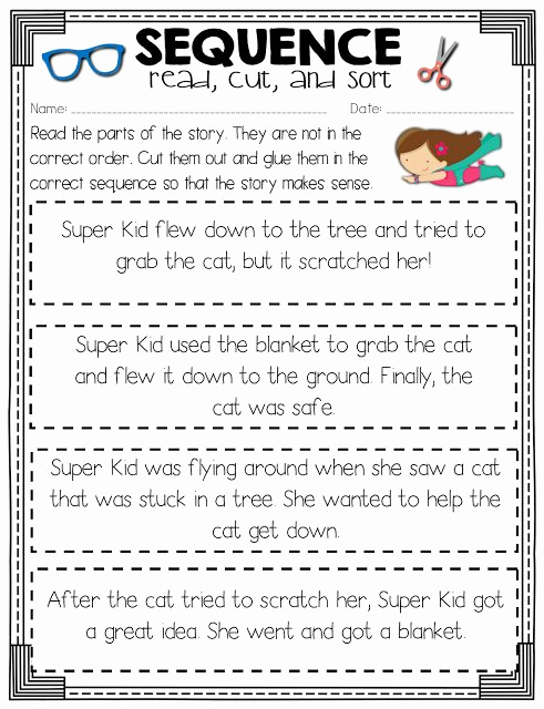 Sequence Worksheets 3rd Grade New Read Like A Rock Star Sequence Of events Activity