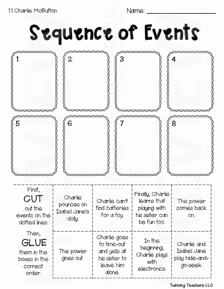 Sequence Worksheets 3rd Grade Unique 3rd Grade Reading Street Sequence Of events Activities