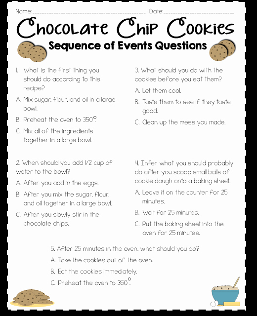 Sequence Worksheets 5th Grade Fresh Sequence Of events Activity