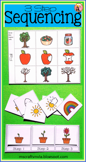 Sequence Worksheets for Kids Beautiful Nyla S Crafty Teaching Sequence Cards
