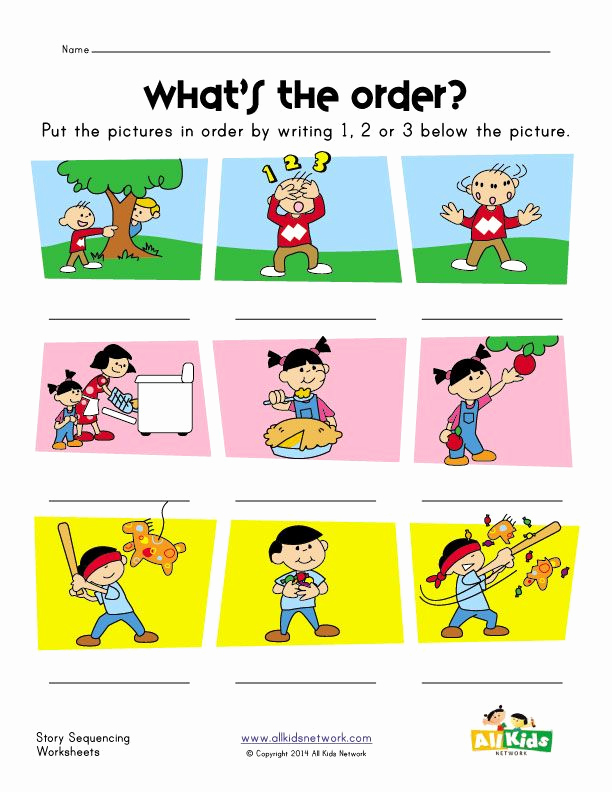 Sequence Worksheets for Kids Beautiful Story Sequence Worksheet