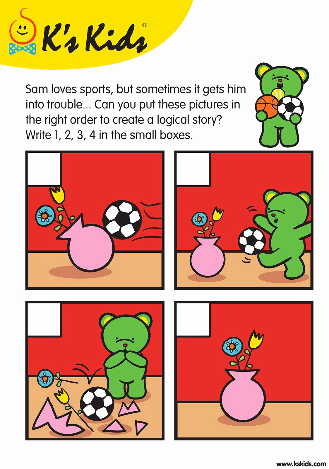 Sequence Worksheets for Kids Elegant Storysequence L1 02