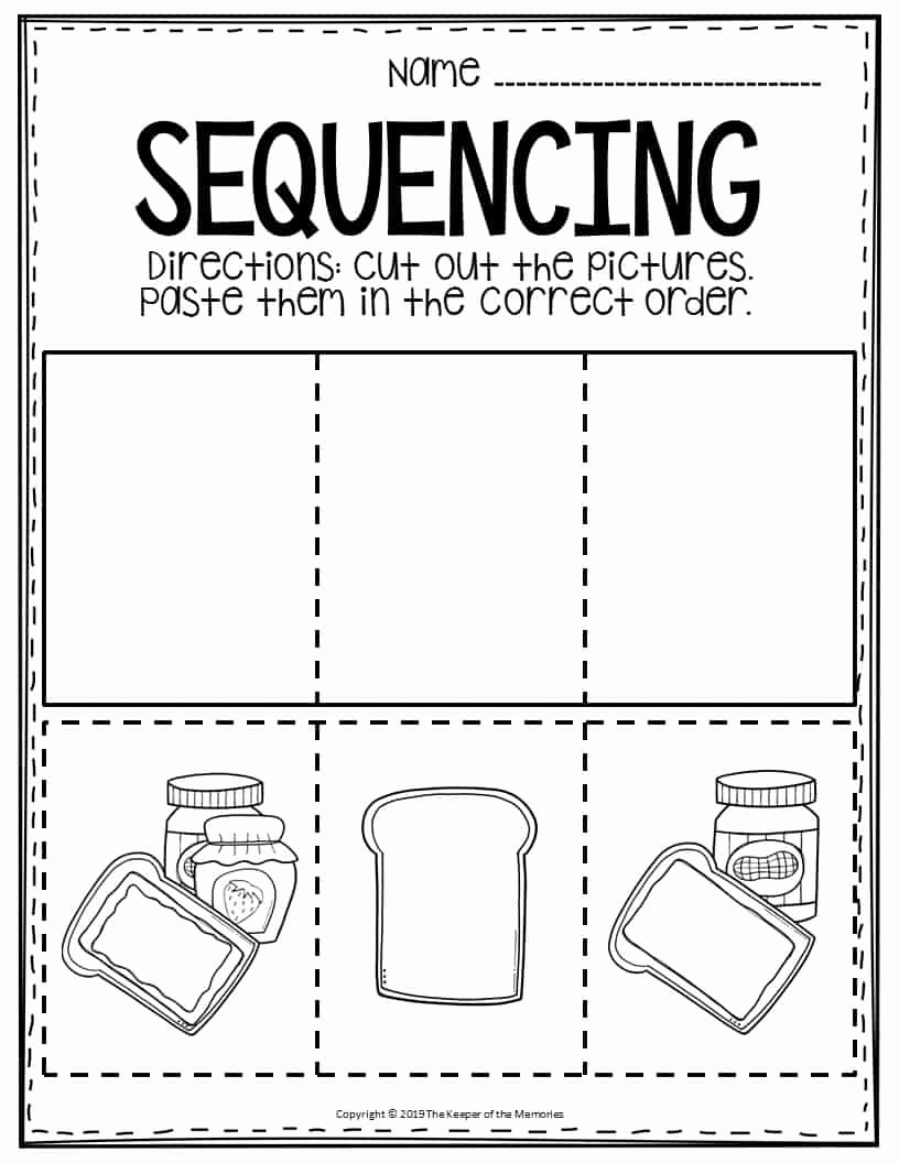 Sequence Worksheets for Kids Luxury Free Printable Sequencing Preschool Worksheets Peanut