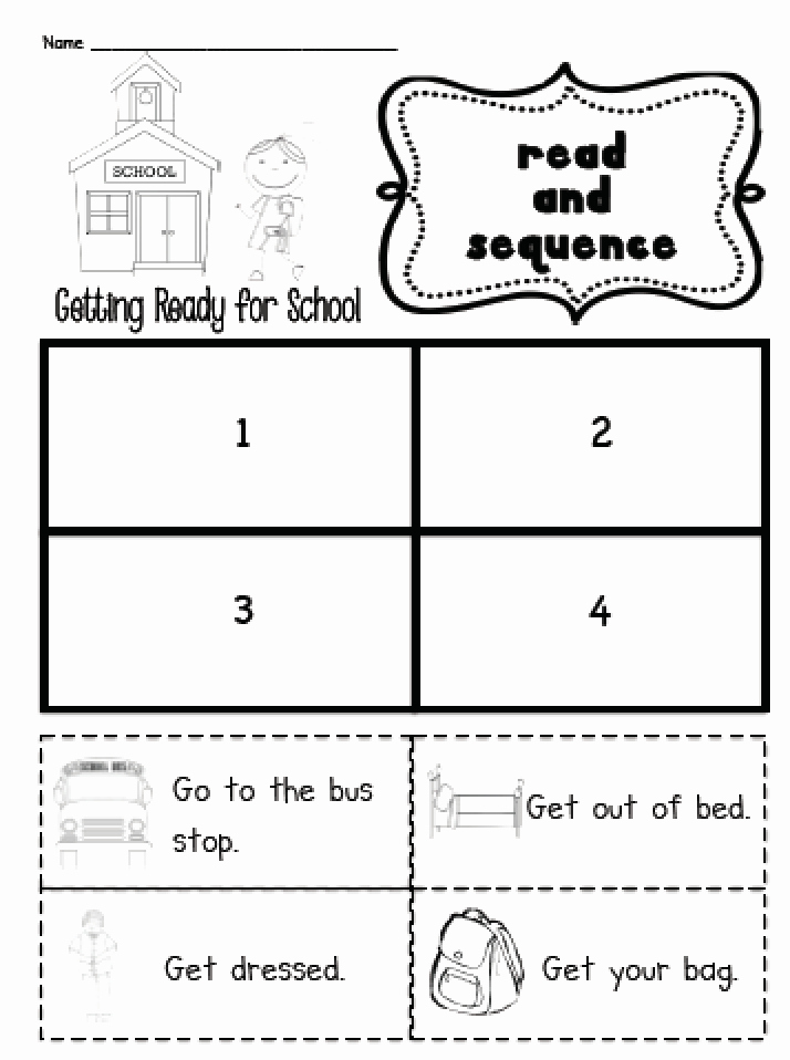 Sequence Worksheets for Kids Unique Sarah S First Grade Snippets Sequencing Practice In