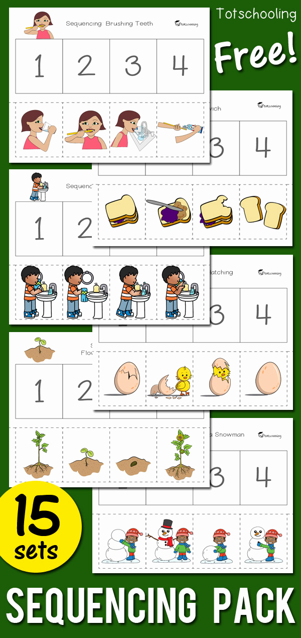 Sequence Worksheets for Kids Unique Sequencing Activity Pack