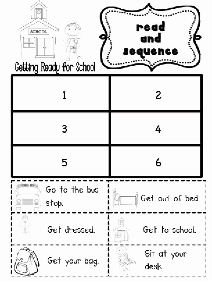 Sequence Worksheets for Kindergarten Fresh Sarah S First Grade Snippets Sequencing Practice In