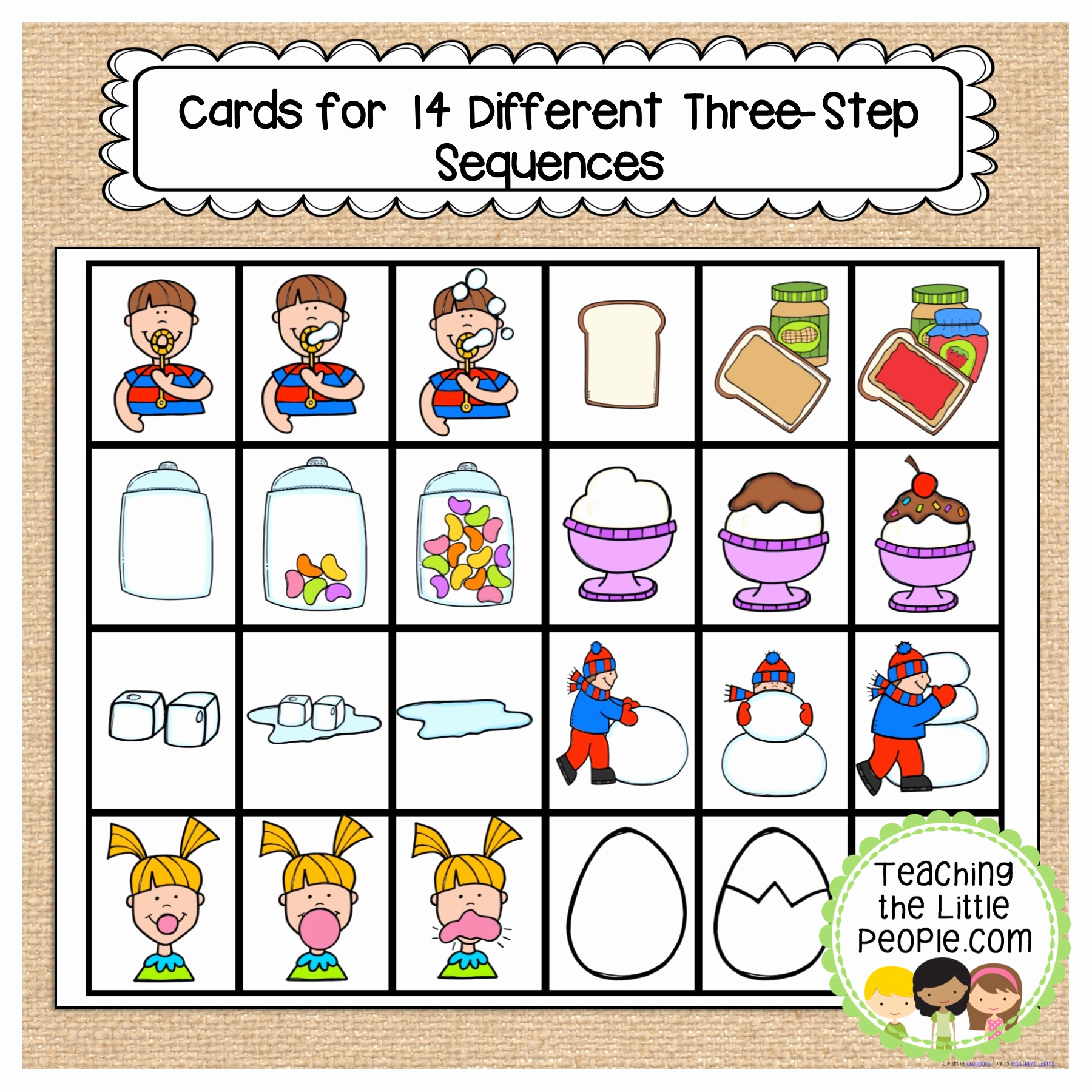 Sequence Worksheets for Kindergarten Luxury Sequencing Activities for Young Learners Teaching the