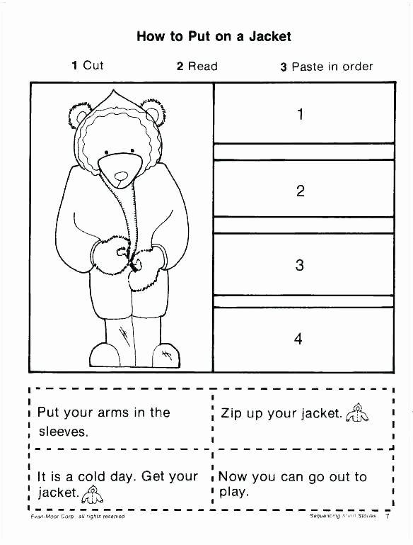 Sequence Worksheets for Kindergarten New Story Sequence Worksheets for Kindergarten First Grade