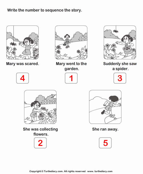 Sequencing Pictures Worksheets Fresh Story Sequencing Mary Went to the Garden Worksheet