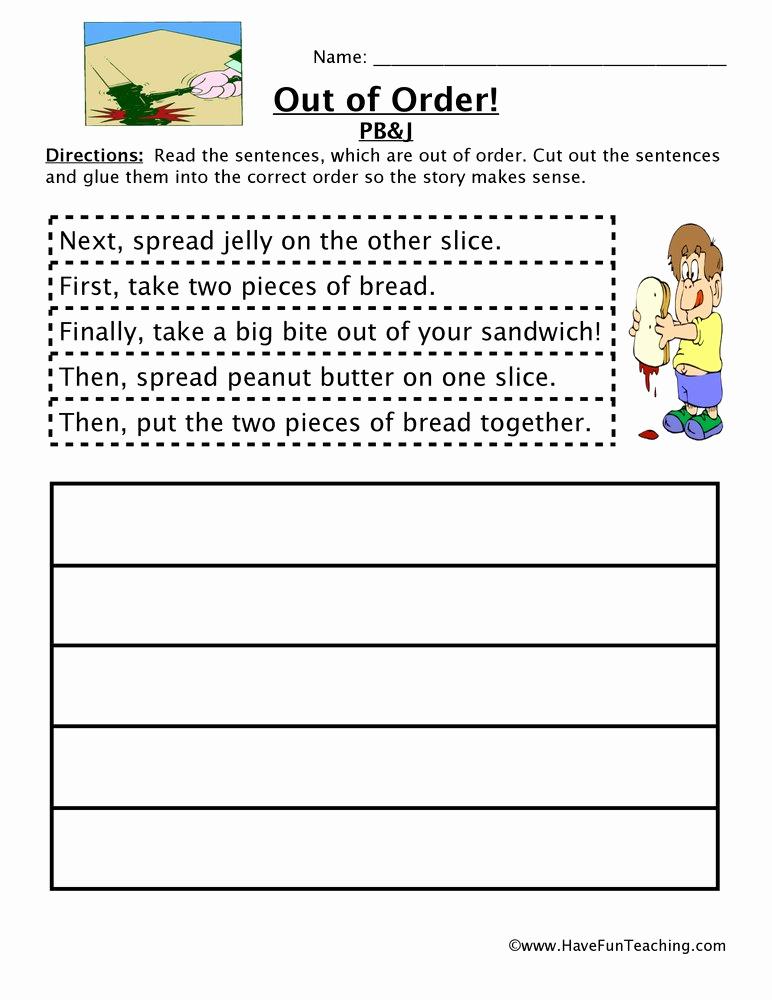 Sequencing Story Worksheets Elegant Sequencing Worksheets