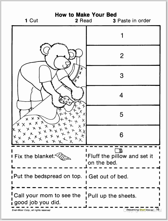 Sequencing Story Worksheets Lovely Short Story Sequencing Cut & Paste