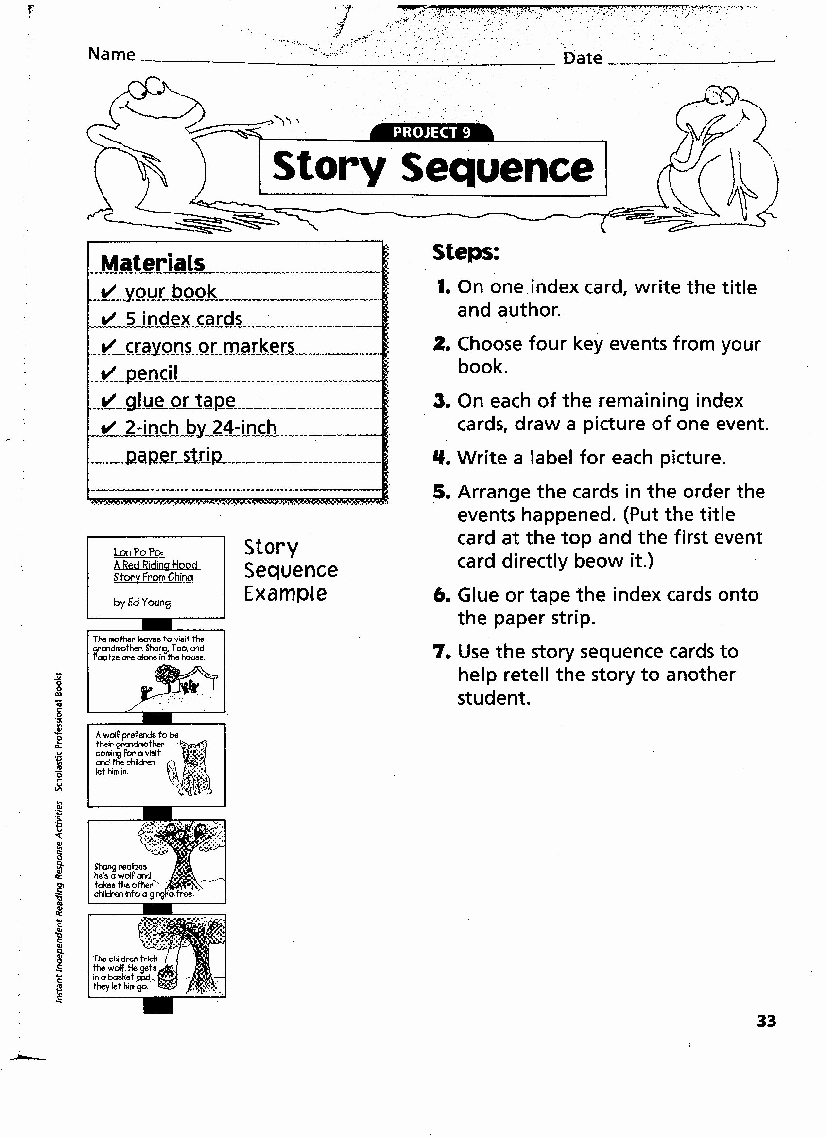 Sequencing Worksheets 4th Grade Awesome 4th Grade Printable Worksheet for Sequencing