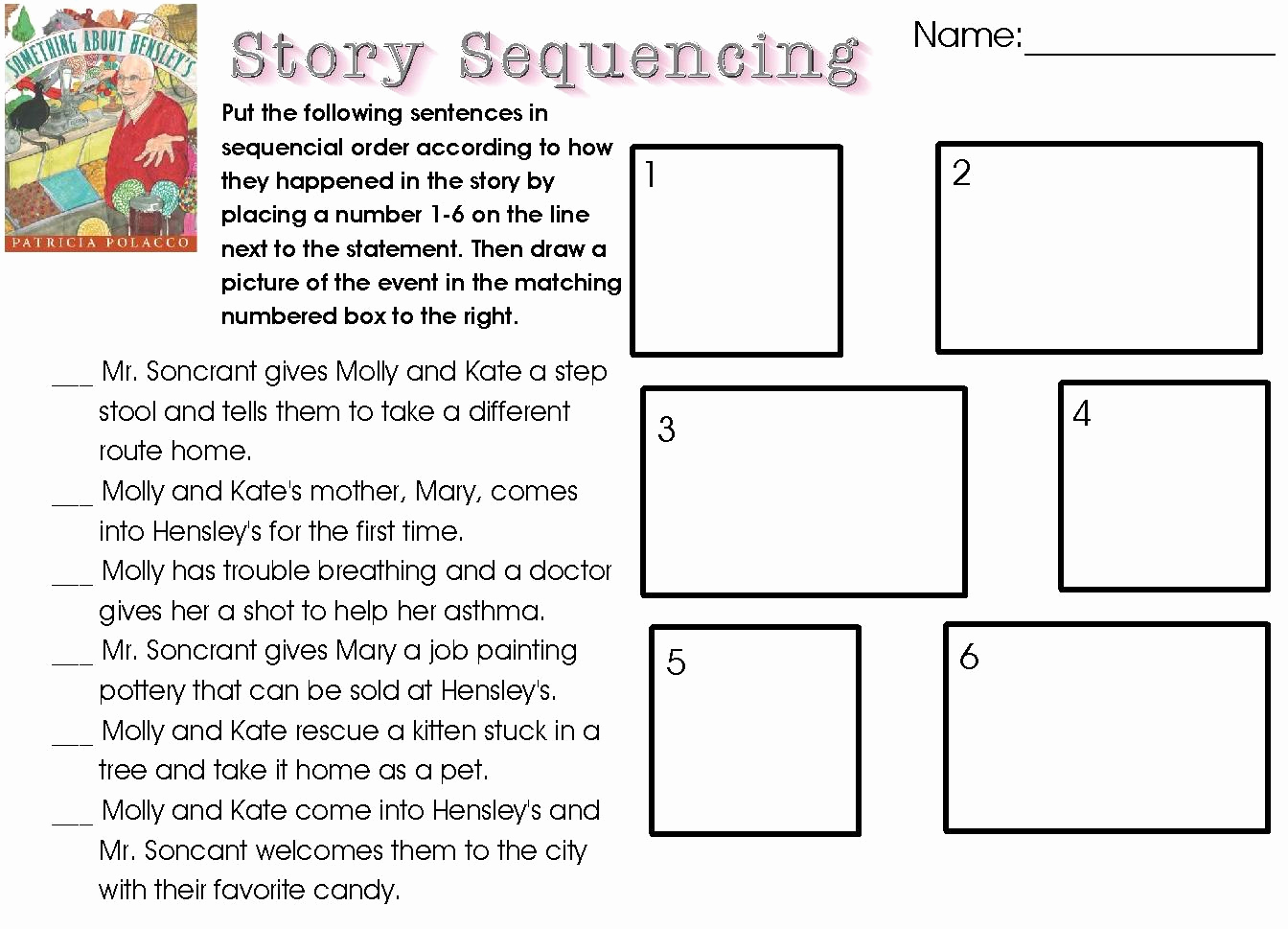 Sequencing Worksheets 4th Grade Awesome 4th Grade Story Sequencing Worksheet