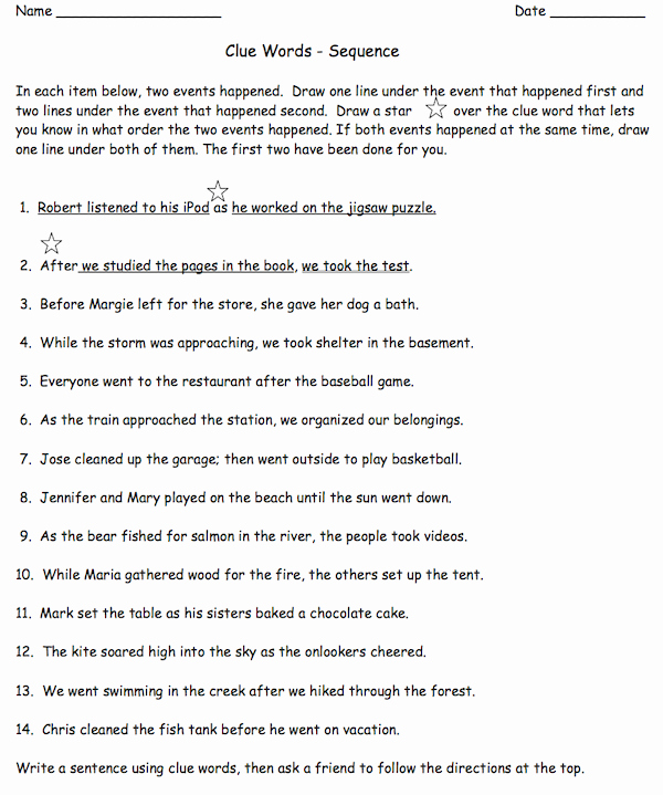 Sequencing Worksheets 4th Grade Best Of Free Sequencing Worksheets for 4th Grade