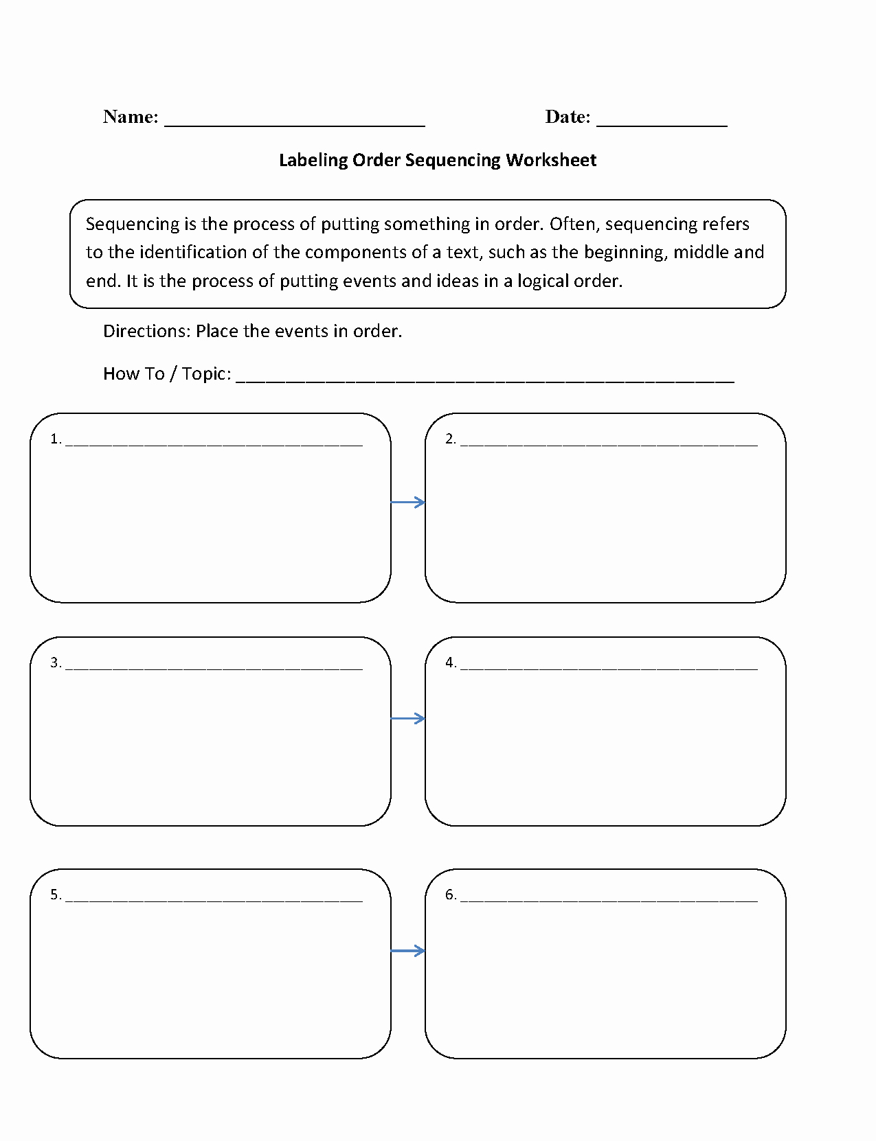 Sequencing Worksheets 4th Grade Lovely 4th Grade Story Sequencing Worksheet