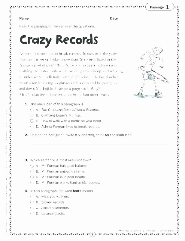 Sequencing Worksheets 5th Grade Elegant 5th Grade Main Idea Worksheets Context Clues Worksheets