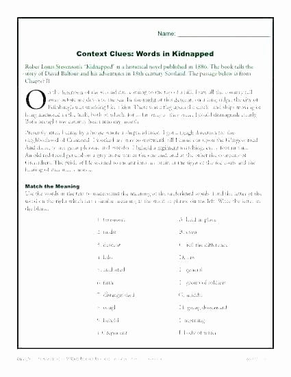 Sequencing Worksheets 5th Grade New 5th Grade Context Clues Worksheets Vocabulary Context