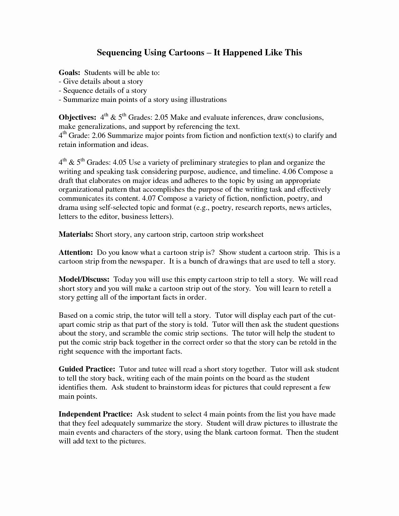 Sequencing Worksheets 5th Grade Unique 14 Best Of Story events Worksheets Story