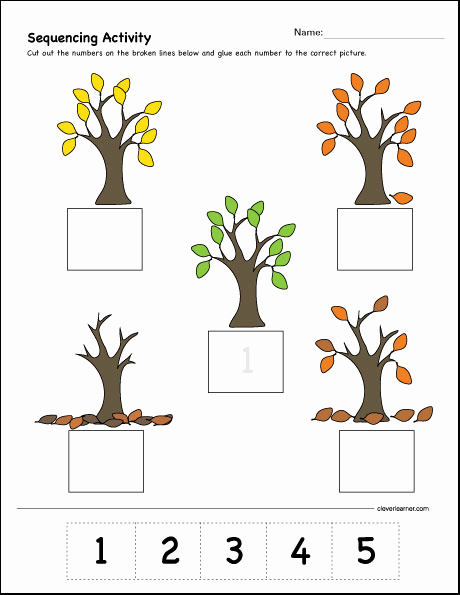 Sequencing Worksheets for Kindergarten Elegant which Es First Second and Third Sequence Activity for