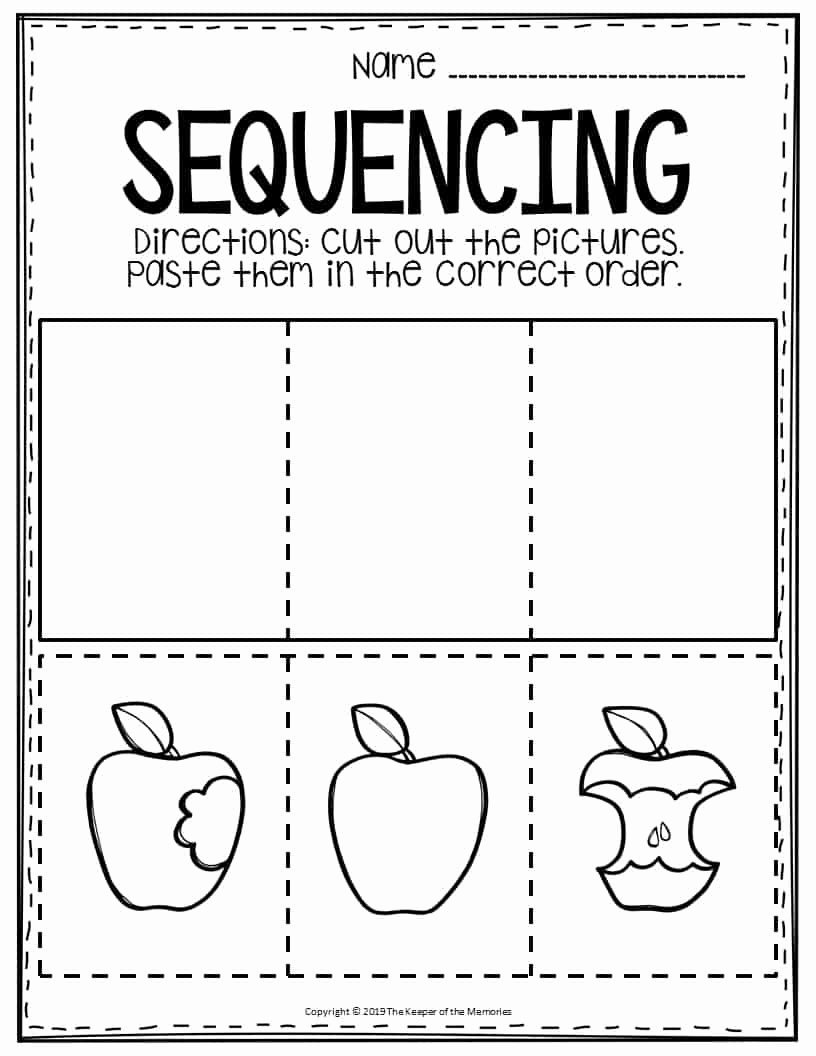 Sequencing Worksheets for Kindergarten New Sequencing Preschool Worksheets Apple the Keeper Of the
