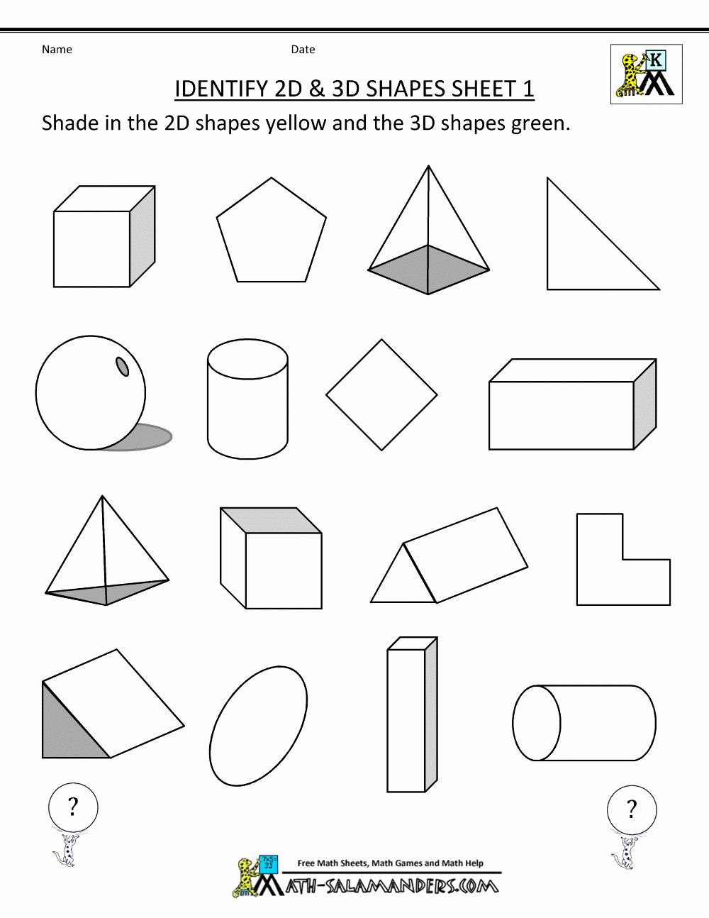 Shapes Worksheets 2nd Grade Elegant Free Printable Second Grade Geometry Worksheets