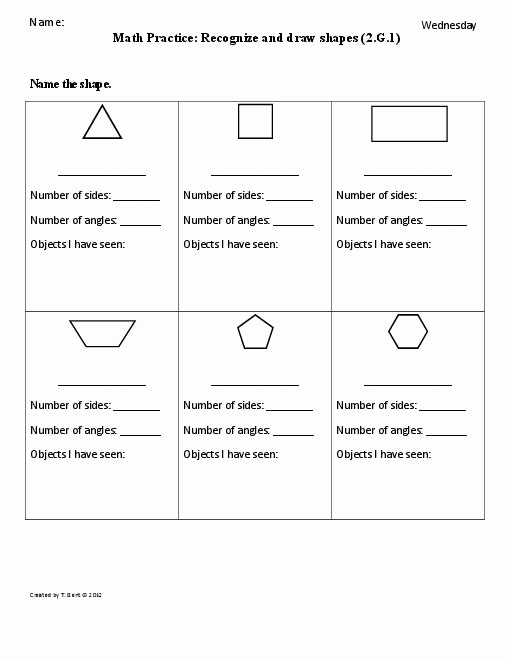 Shapes Worksheets 2nd Grade Luxury 7 Best Of Second Grade Shapes Worksheets Math