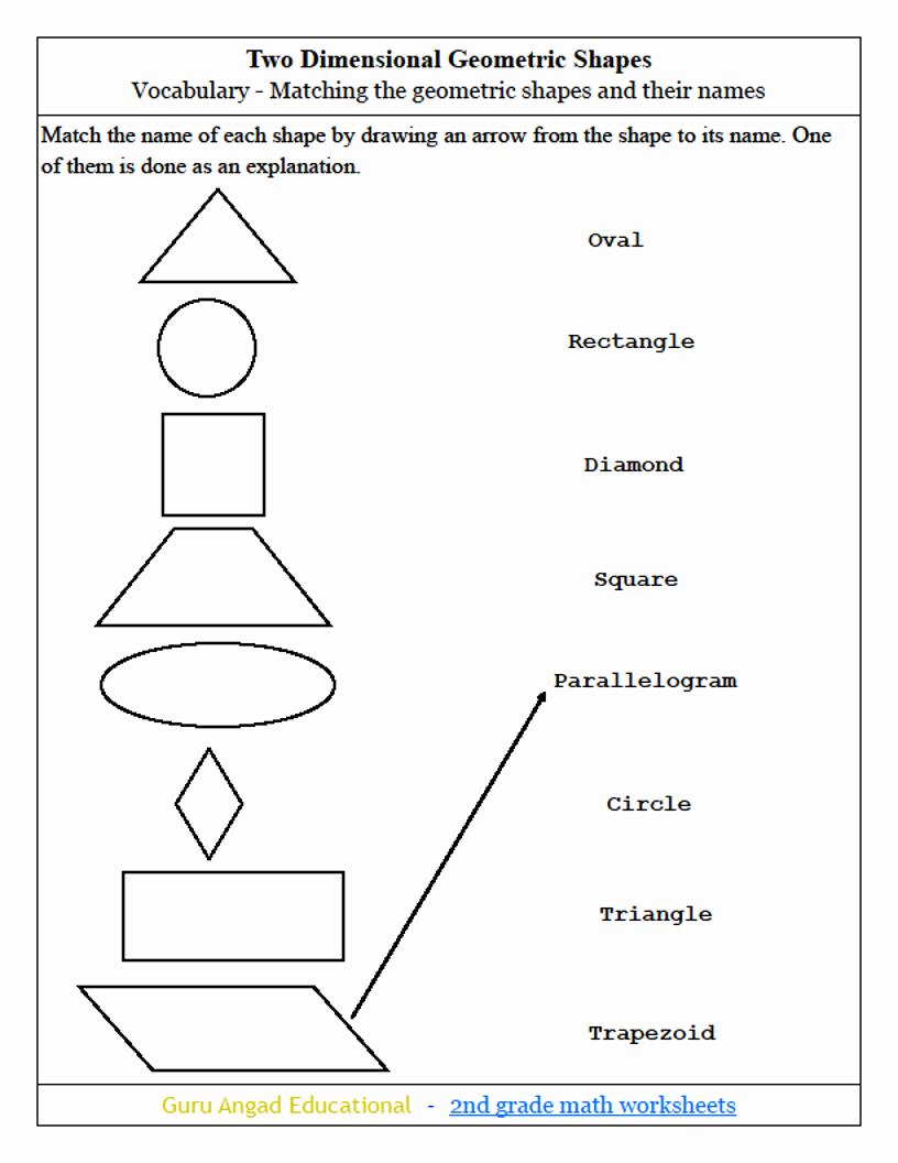 Shapes Worksheets 2nd Grade New 30 Geometry Worksheet for 2nd Grade Worksheet Project List