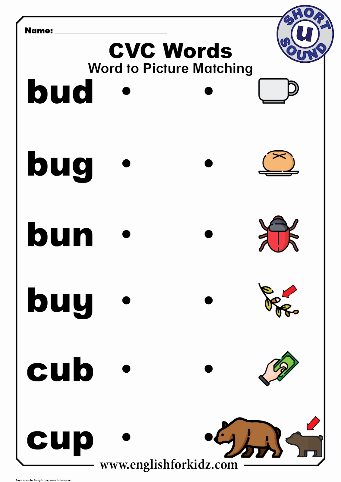 Short U Worksheets Pdf Fresh English for Kids Step by Step Cvc Words Worksheets Short