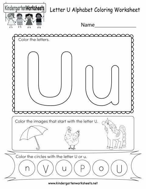 Short U Worksheets Pdf Luxury 7 Letter U Worksheet for Kindergarten Kindergarten