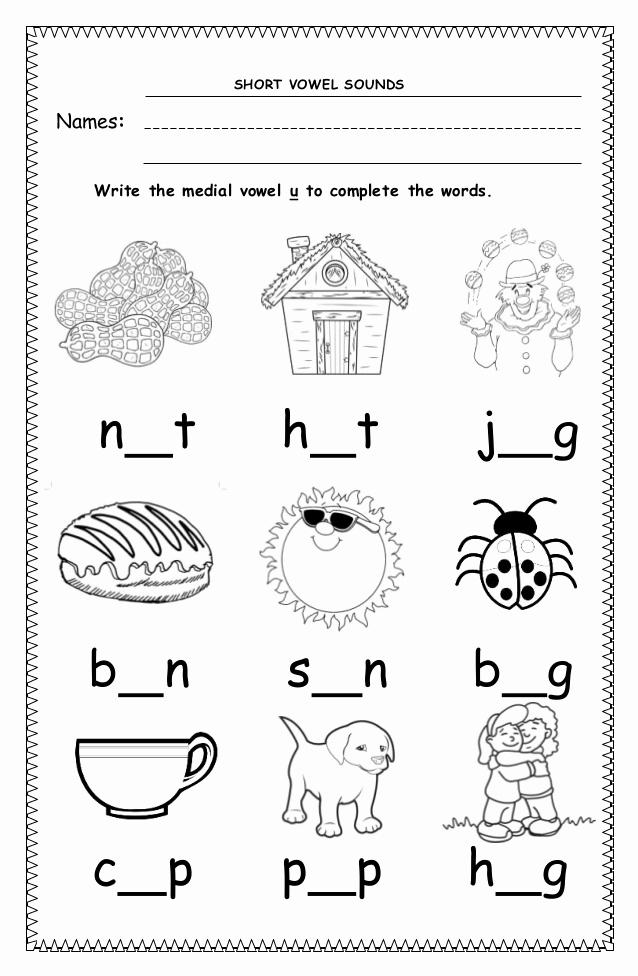 Short U Worksheets Pdf New 9 Cvc Worksheet for Kindergarten Pdf