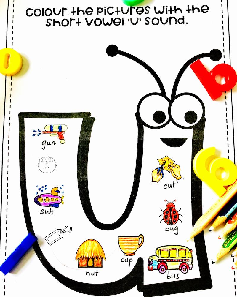 Short U Worksheets Pdf Unique Cvc Words with Pictures Pdf Worksheets